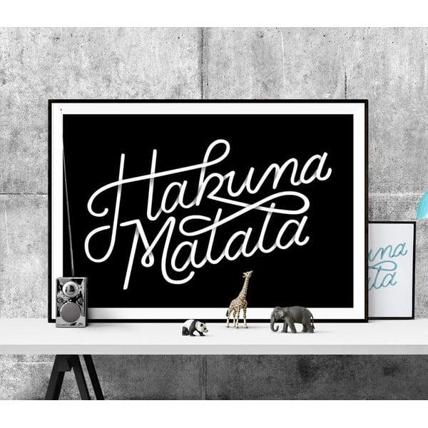 Plakát Hakuna Matata BW, A3