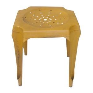 Kovová stolička Tabouret Jaune