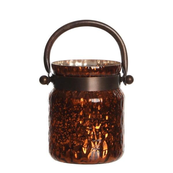 Stojan na svíčku Kito Copper Shiny, 18 cm