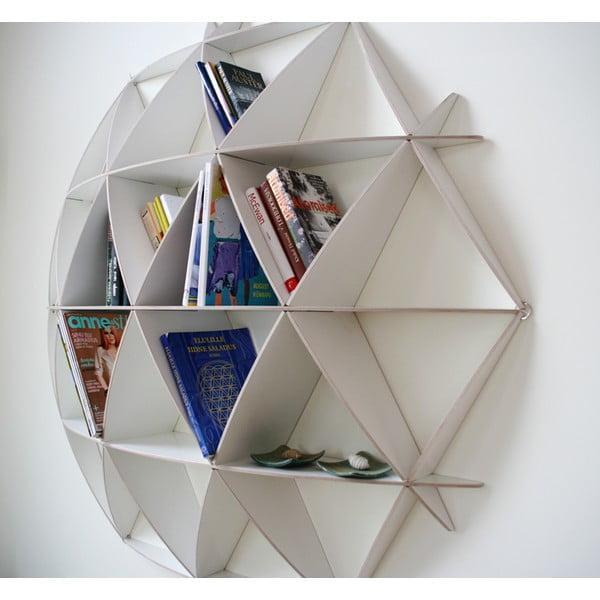 Nástěnná knihovna Small Comb White