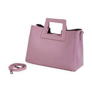 Růžová kabelka z pravé kůže Andrea Cardone Pietro