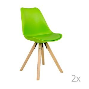 Sada 2 zelených židlí House Nordic Bergen