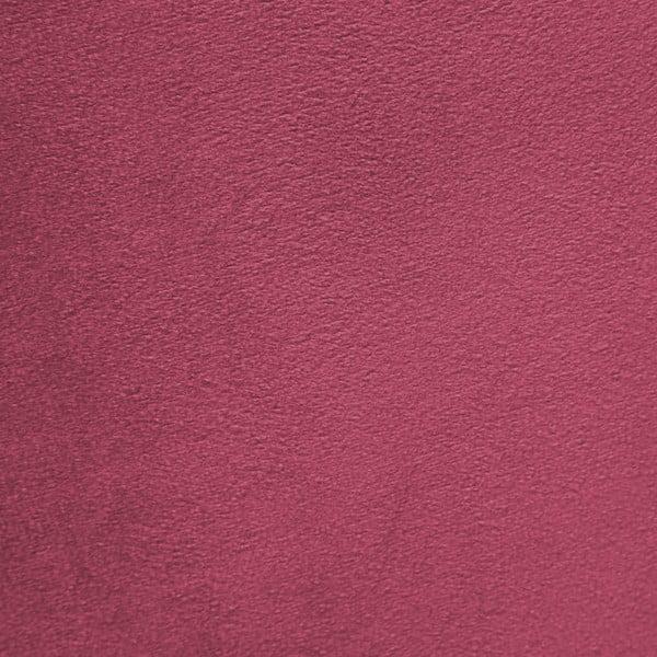 Růžovočervené křeslo a podnožka s podnoží v černé barvě Vivonita Cora Velvet
