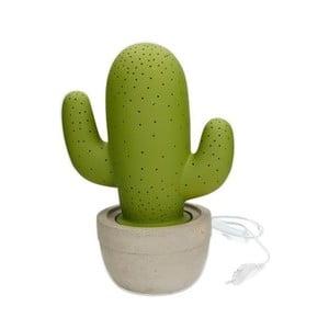 Zelená porcelánová lampa ve tvaru kaktusu Brandani Cactus
