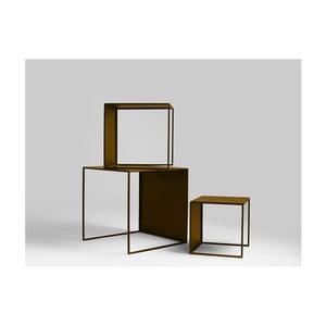 Sada 3 odkládacích stolků ve zlaté barvě Custom Form 2Wall