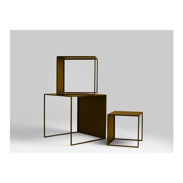 2Wall 3 részes aranyszínű tárolóasztal szett - Custom Form