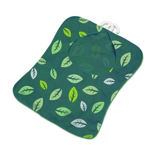 Zielona wisząca torebka na klamerki Addis Peg Bag Dark Green Leafes