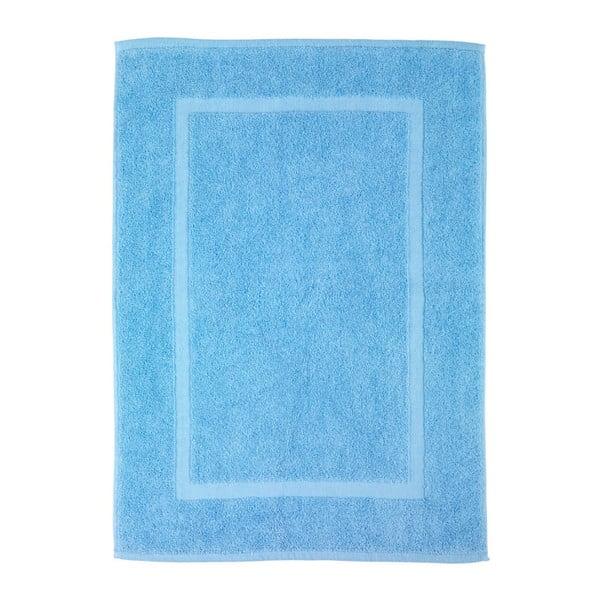 Modrá bavlněná koupelnová předložka Wenko Serenity, 50x70cm