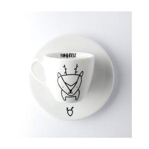 Hrnek na espresso s podšálkem Deer, 100 ml
