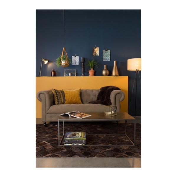 Tmavě hnědý ručně vyráběný koberec Dutchbone Bawang, 170x240cm