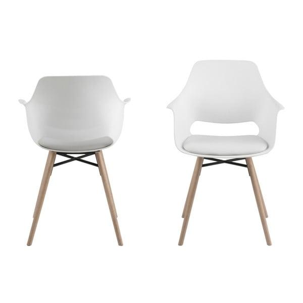 Sada 2 bílých jídelních židlí Actona Ramona Dining Set