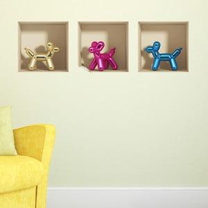 3D samolepky Baloons Dogs