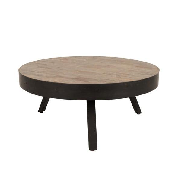Masă de cafea din lemn de tec reciclat White Label Suri, Ø 74 cm