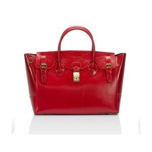 Geantă din piele Lisa Minardi Bifrenia, roșu
