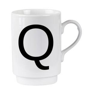 Porcelánový písmenkový hrnek Q