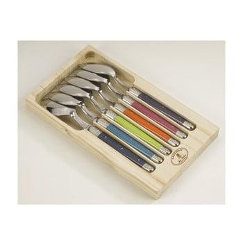 Set 6 linguri din inox, în cutie de lemn, Jean Dubost London de la Jean Dubost