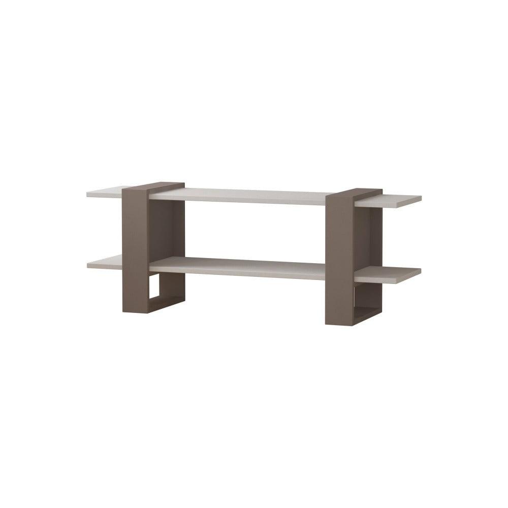 Šedý TV stolek s bílými detaily Homitis Certo