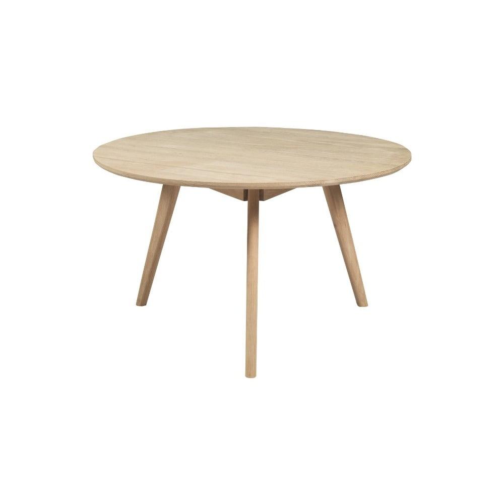 Konferenční stolek z běleného dubového dřeva Folke Yumi, ∅9cm
