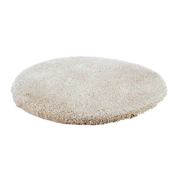 Béžový ručně vyráběný koberec Obsession My Carnival Car Pear, ⌀80 cm