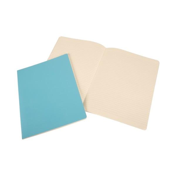 Extra velký nebesky modrý zápisník Moleskine Volant, linkovaný