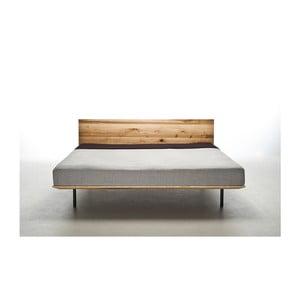 Postel z olejovaného jasanového dřeva Mazzivo Modo, 140x210cm