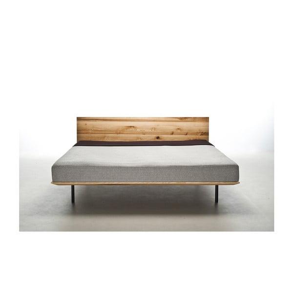 Postel z olejovaného jasanového dřeva Mazzivo Modo, 120x220cm