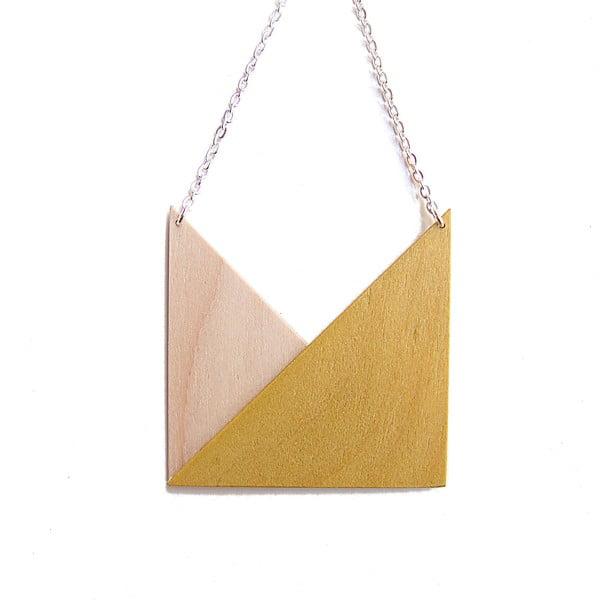 Přívěšek Snug.Geometric Triangle, hořčicový