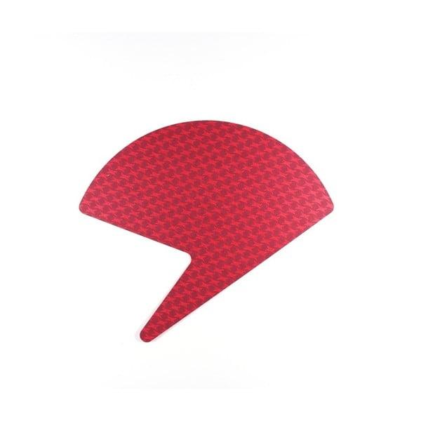 Červeno-červený papírový vějíř Calico