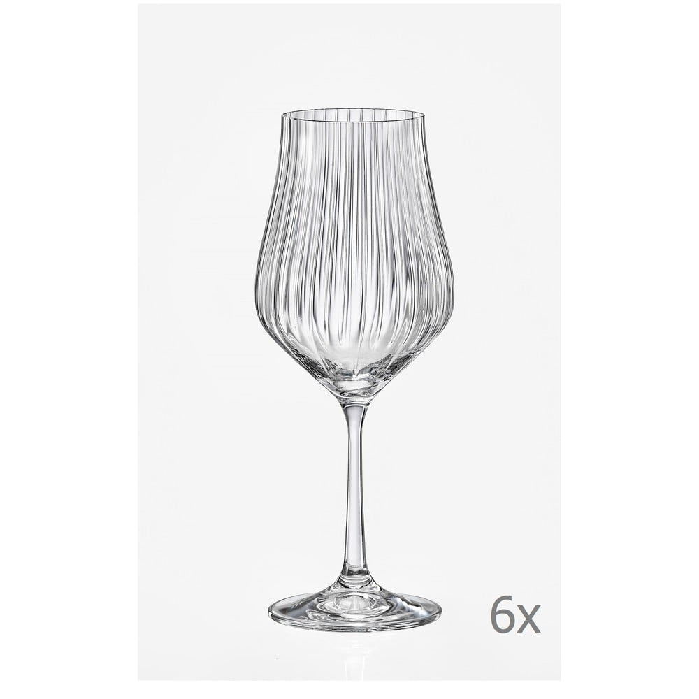 Sada 6 sklenic na víno Crystalex Tulipa Optic, 350 ml