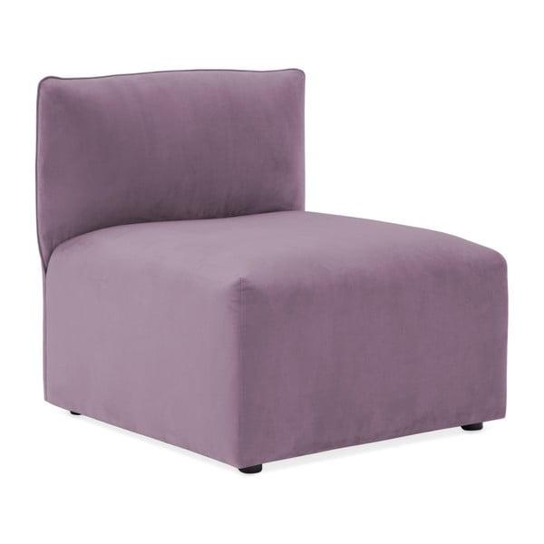 Lila fialová třímístná modulová pohovka Vivonita Velvet Cube