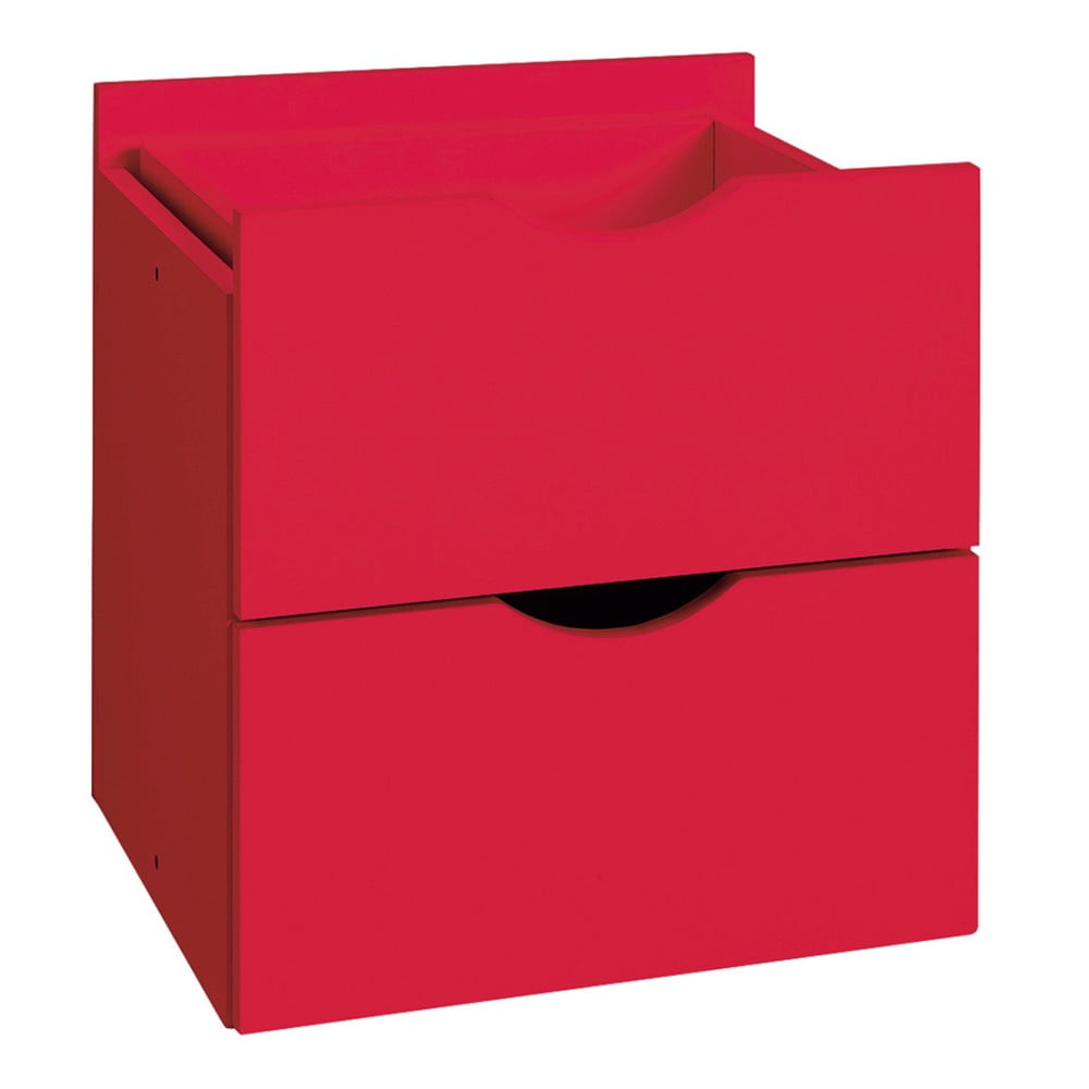 Červená dvojitá zásuvka do regálu Støraa Kiera, 33 x 33 cm