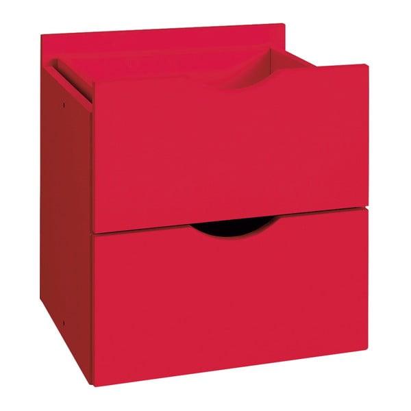 Kiera piros dupla fiók polchoz, 33 x 33 cm - Støraa