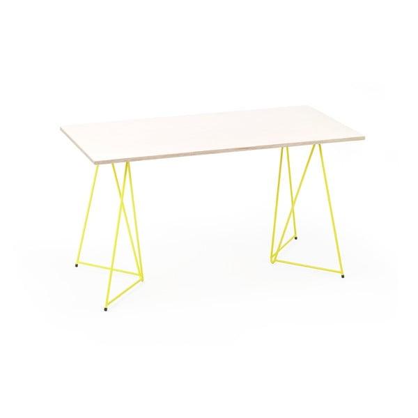 Žlutá podnož ke stolu Master & Master Diamond Narrow, 70x55cm