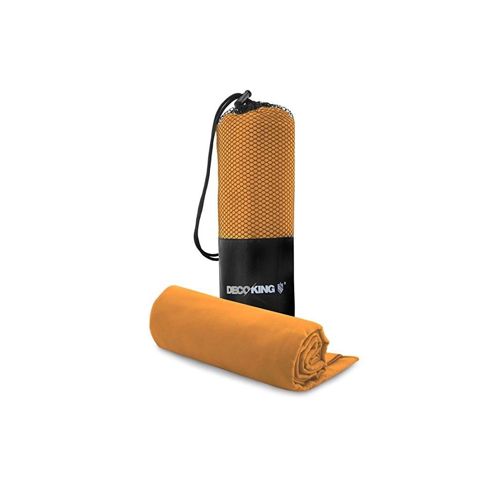Set oranžové osušky a ručníku DecoKing EKEA