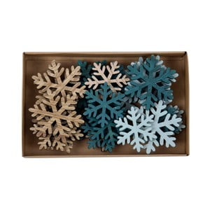 Sada 24 vánočních ozdob ve tvaru vloček Ego Dekor Snowflake