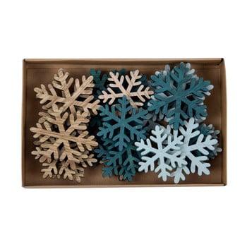Set 24 decorațiuni în formă de fulgi Ego Dekor Snowflake imagine