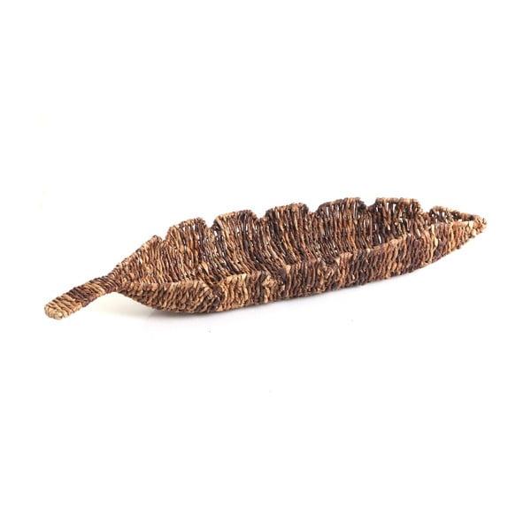 Proutěná miska Leaf, 68 cm