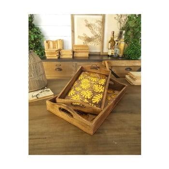 Set 2 tăvi din lemn de mango Orchidea Milano Tropical imagine