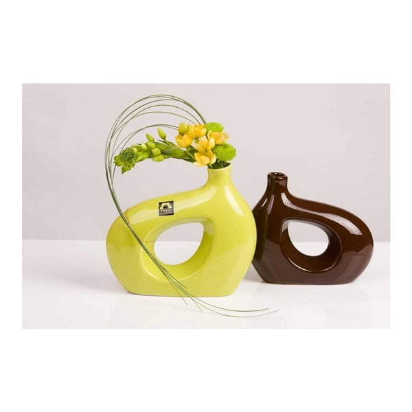 Váza Marna 18 cm, zelená