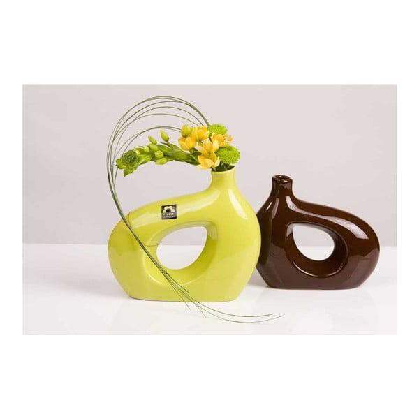 Váza Marna 18 cm, hnědá