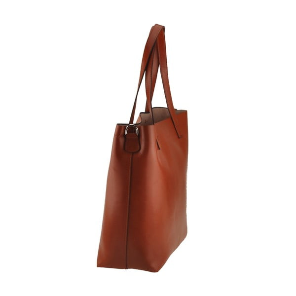Medově hnědá kožená kabelka Florence Tangor