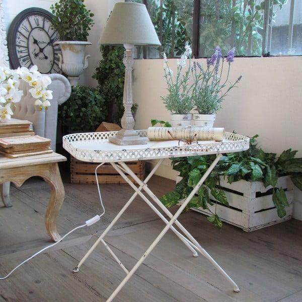 Odkládací stolek Country White, 61x39x55 cm