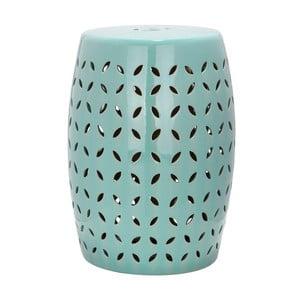 Tyrkysový keramický stolek Safavieh Lattice Petal