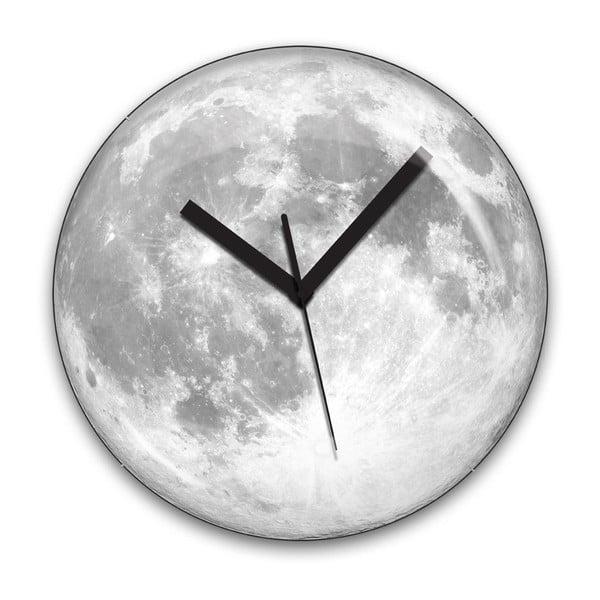 Světélkující hodiny Moon, 35 cm