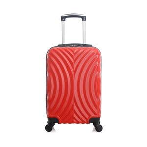 Červený cestovní kufr na kolečkách Hero Lagos, 31l