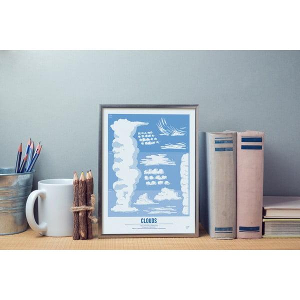 Barevný plakát Follygraph Clouds Blue, 30x40cm