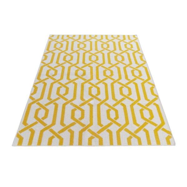 Žlutý vlněný koberec Bakero Camilla, 140x200cm