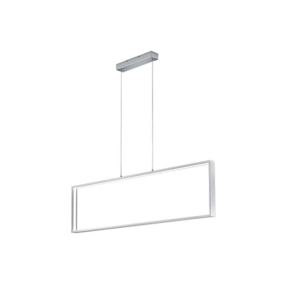 Lustră LED Trio Azur, lungime 1,14 m, alb