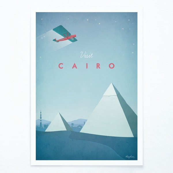 Poster Travelposter Cairo, A3