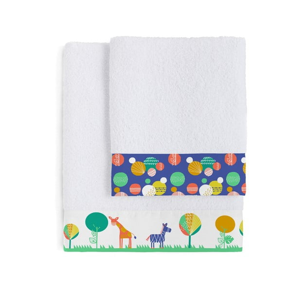 Set 2 osušek Moshi Moshi Geo Jungle, 50x100 a 70x140 cm